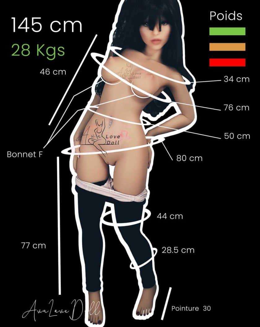 Poupée-TPE-Elina-Doll Forever-145-cm-Bonnet-F