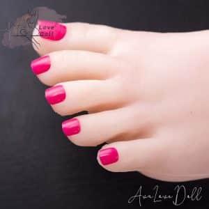 Dark Pink Toenails