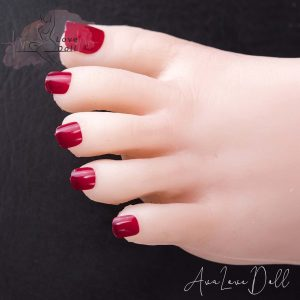 Dark Red Toenails