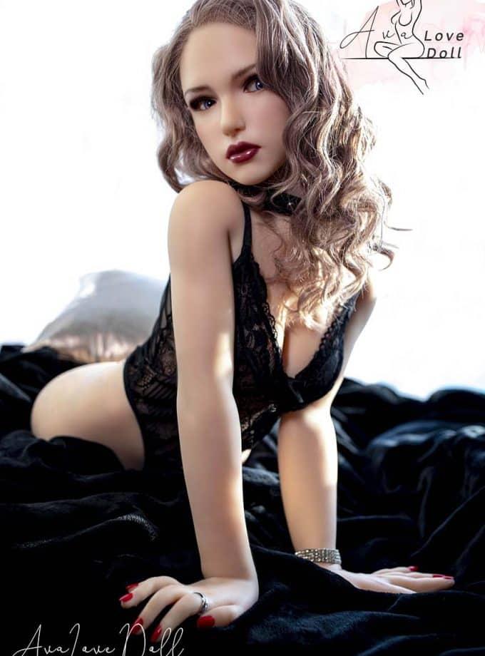 Buste Sexuelle Sino Doll Poupée Silicone Bonnet C 55 cm Tête 31 Cheveux Implantés