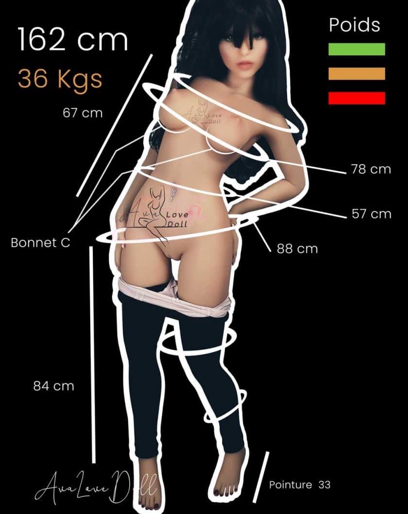 Poupée sexuelle TPE 6YE 162cm Bonnet C