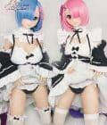Rem Ram Poupée Anime Aotume Rezero 143 cm Bonnet D Tête 7