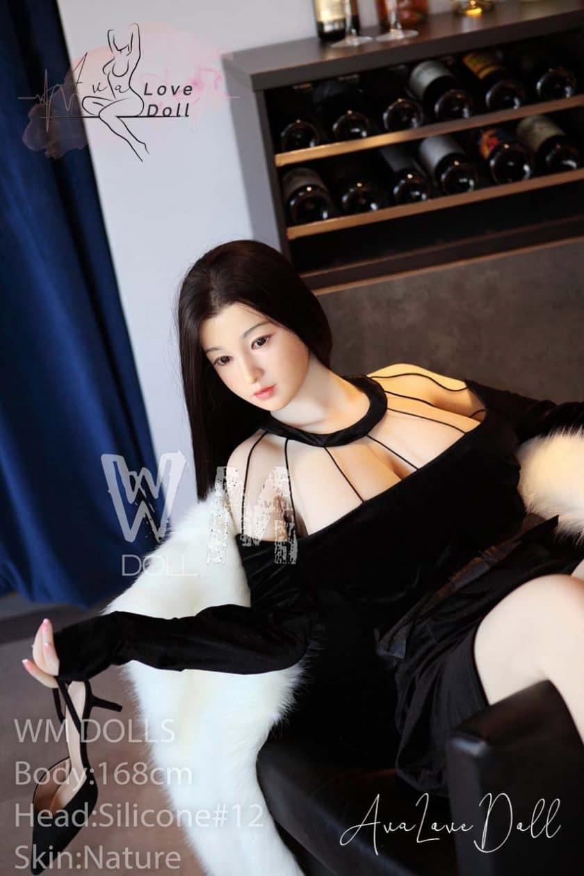 WM poupée adulte Sex Doll 168 cm Tête silicone 12 Bonnet E
