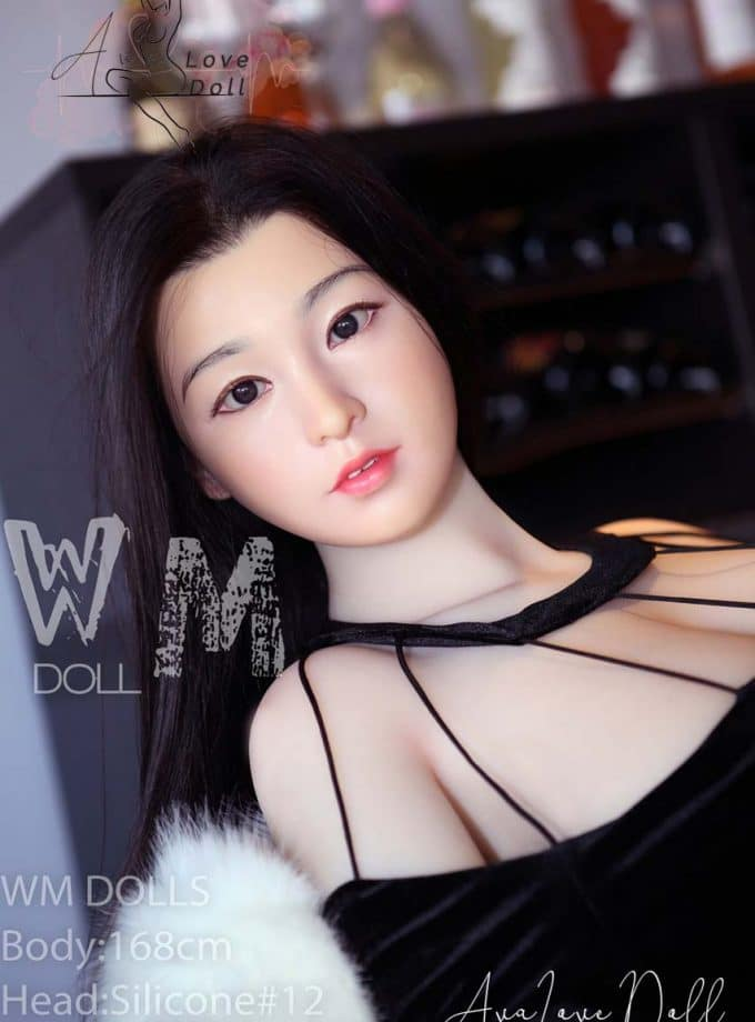 WM poupée adulte Sex Doll 168 cm Tête silicone 12 Bonnet E