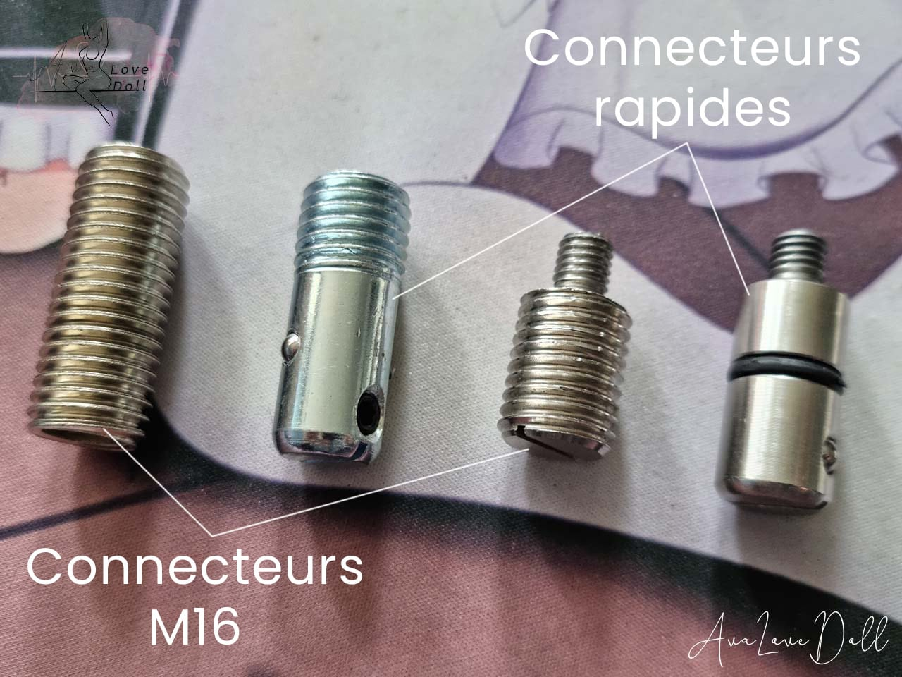 Poupée-adulte-connecteur-rapide-M16